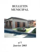 Grézolles_Bulletin municipal n° 7_2003